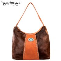 TR17-8284 Trinity Ranch Cowhide Collection Handbag-Brown