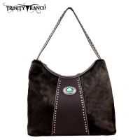 TR17-8284 Trinity Ranch Cowhide Collection Handbag-Coffee