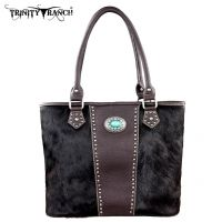 TR17-8317 Trinity Ranch Cowhide Collection Handbag-Coffee