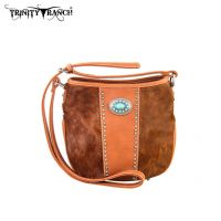 TR17-8360 Trinity Ranch Cowhide Collection Handbag-Brown
