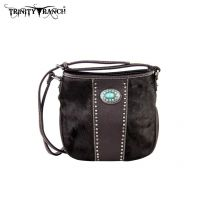 TR17-8360 Trinity Ranch Cowhide Collection Handbag-Coffee