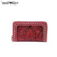 TR18-W003 Trinity Ranch Tooled Design Wallet