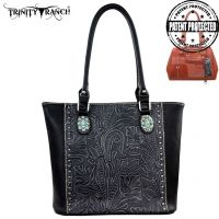 TR22G-L8317 Montana West Trinity Ranch Tooled Design Concealed Handgun Collection-Black