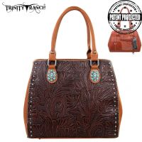 TR22G-L8563 Montana West Trinity Ranch Tooled Design Concealed Handgun Collection-Brown