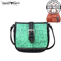 TR24G-L8360 Montana West Trinity Ranch Buckle Design Concealed Handgun Collection Handbag-Turquoise