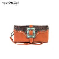 TR30-W002 Montana West Buckle Collection Wallet-Brown