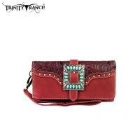 TR30-W002 Montana West Buckle Collection Wallet-Red