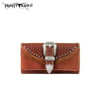 TR31-W002 Trinity Ranch Buckle Collection Wallet-Brown