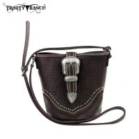 TR31-8296 Trinity Ranch Buckle Design Handbag-Coffee