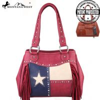 TX01G-8036 Texas Pride Concealed Handgun Collection Messenger Bag-Red
