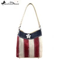 TX02-916 Montana West Texas Pride Collection Handbag-Tan