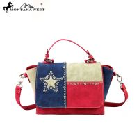 TX06-8101 Montana West Texas Pride Collection Messenger Handbag-Red