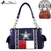 TX07G-8085 Montana West Texas Pride Collection Handbag-Navy