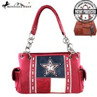 TX07G-8085 Montana West Texas Pride Collection Handbag-Red