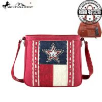 TX07G-8395 Montana West Texas Pride Collection Handbag-Red
