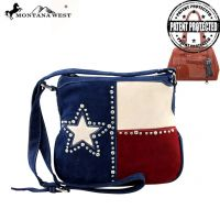 TX08G-8395 Montana West Texas Pride Collection Crossbody Bag-Navy