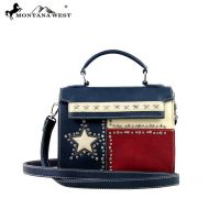 TX11-8287 Montana West Texas Pride Collection Messenger/Shoulder Bag-Navy