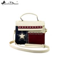 TX11-8287 Montana West Texas Pride Collection Messenger/Shoulder Bag-Tan