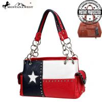 TXG-8085K Montana West Texas Pride Collection handbag-Red