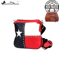 TXG-8295K Montana West Texas Pride Collection Crossbody Bag-Red