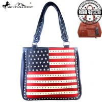 USD01-8113 Montana West American Pride Dual Sided Concealed Handgun Tote Bag-Navy