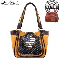 US03G-8005 Montana West American Pride Concealed Handgun Collection Handbag-Light Brown