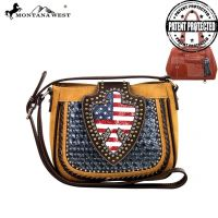 US03G-8287 Montana West American Pride Handbag-Light Brown