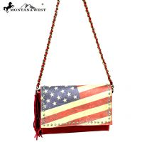 US13-8289 Montana West Vintage America Flag Crossbody-Navy