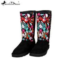 BST-034 Montana West Embroidered Collection Boots Black