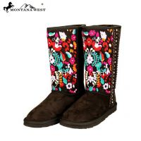 BST-034 Montana West Embroidered Collection Boots Brown and Coffee