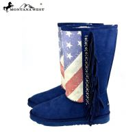 BST-US02 Montana West American Pride Collection Boots -Navy and Red