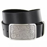 Denver Western Full Grain Leather Casual Belt by Diamond V Texas Star