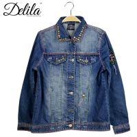 Delila Hand Embroidered Jacket Cross Collection Denim