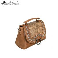 MW559-8101 Montana West Concho Collection Satchel/Crossbody