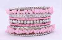 Back in Stock   Pink Chip Bangle   J-2431