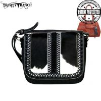 TR44g-8360 Trinity Ranch Hair-On Leather Collection Saddle Bag