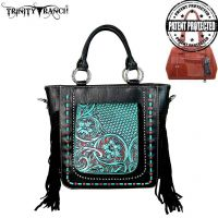 TR47G-8240 Trinity Ranch Tooled Collection Concealed Handgun Collection Tote/Crossbody