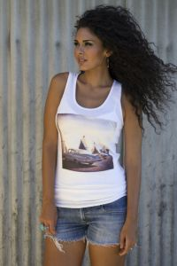 Teepee Hotel Racer Back Tank  T-1819