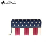 US16-W010 Montana West Patriotic Collection Secretary Style Wallet
