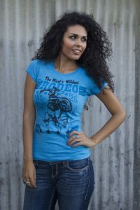 The West's Wildest RODEO Tee--Made in USA  T-1698