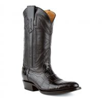 Stallion Handcrafted Alligator Belly Exotic Cowboy Boots | Ferrini Boots (Ferrini Sizes: 8D, Ferrini Colors: Black)