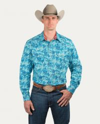 Generations Snap Front Shirt (Noble Colors: Nile Paisley, Noble Sizes: Small)