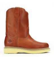 HOMESTEAD | Wellington 10-Inch Pull-On Work Boot (Bonanza Color: Honey, Bonanza  Sizes: 5.0)