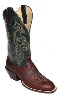 Mens Boots 13 inch Cocoa Green Pull Up Western Boots 2348 (Hondo Sizes: 7.0, Hondo Widths: D - Width)