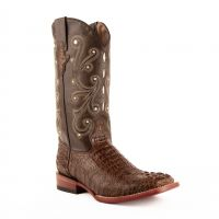 Stampede Crocodile Print Leather Western Boot | Ferrini Boots - Ferrini USA (Ferrini Sizes: 8D, Ferrini Colors: Sport Rust)