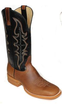 Mens Boots 13 inch Maple Black Crazy Horse Cowboy Boots 2642 (Hondo Sizes: 7.0, Hondo Widths: D - Width)