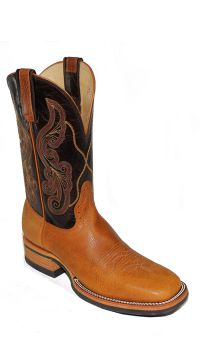Mens 11 inch Honey Chocolate Bi Pull Western Stock Boots 2848 by Hondo Boots (Hondo Sizes: 7.0, Hondo Widths: D - Width)