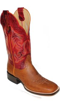 Mens Western Boots Design 13 inch Rust Red Oil Tan Stock Boots 2964 (Hondo Sizes: 7.0, Hondo Widths: D - Width)