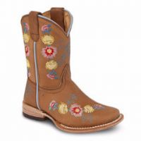 BA-3201 - Bonanza Kids Rodeo Boots (Blk Str / Bonza - Colors: Almond Tan, Western Express Size: 7.0)