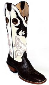 Mens western boots 16 inch Spanish Shoulder cowboy Boots 3204 by Hondo Boots (Hondo Sizes: 7.0, Hondo Widths: D - Width)